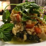 Carrot and Baby Greens Risotto