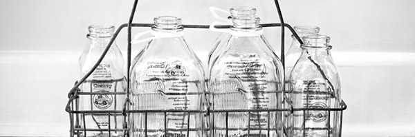 Milk Bottles Photo by Lucy Hyde