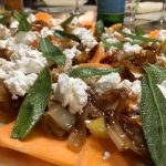 Sweet Potato, Goat Cheese, Sage Pizza