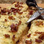 Potato, Gruyere, Bacon, Rosemary Pizza